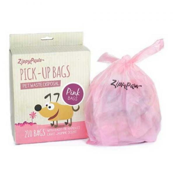 손잡이 배변봉투 210매(핑크)