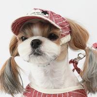 스트라이프 베이비 모자 레드