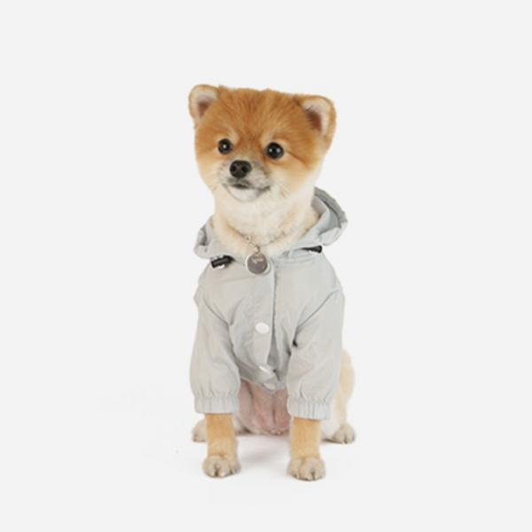 강아지 바람막이 그레이