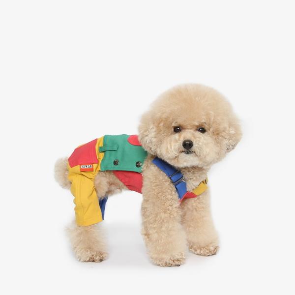 강아지 레고 멜빵 올인원
