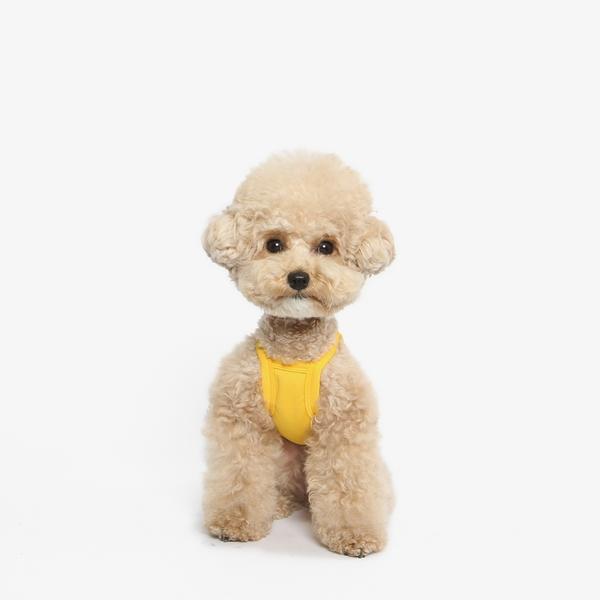 강아지 쿨조끼 쿨나시 티셔츠(노랑)