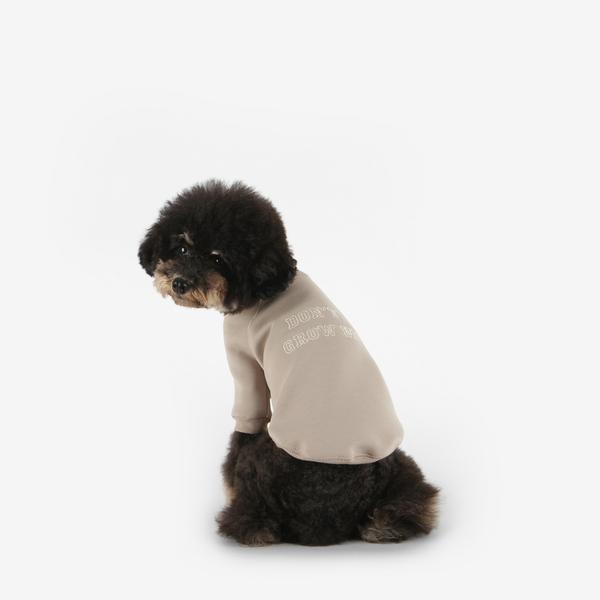 강아지 맨투맨 네오프렌 티셔츠 (베이지)