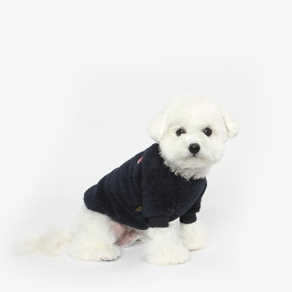 강아지 후리스 맨투맨 겨울옷 (네이비)