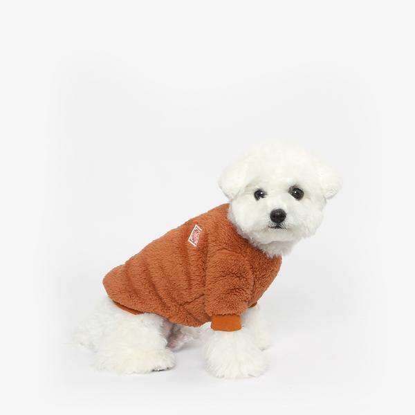 강아지 후리스 맨투맨 겨울옷 (브라운)