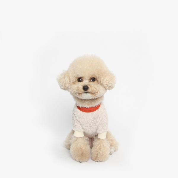 강아지 후리스 맨투맨 겨울옷 (아이보리)