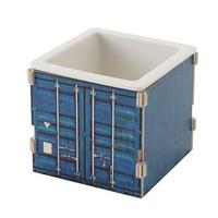 박스형 1구 식기 콘테이너 블루