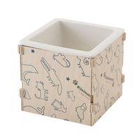 박스형 1구 식기 패턴화이트