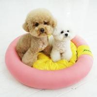 유아러피치 소풍 원형 방석 _애견방석 강아지방석