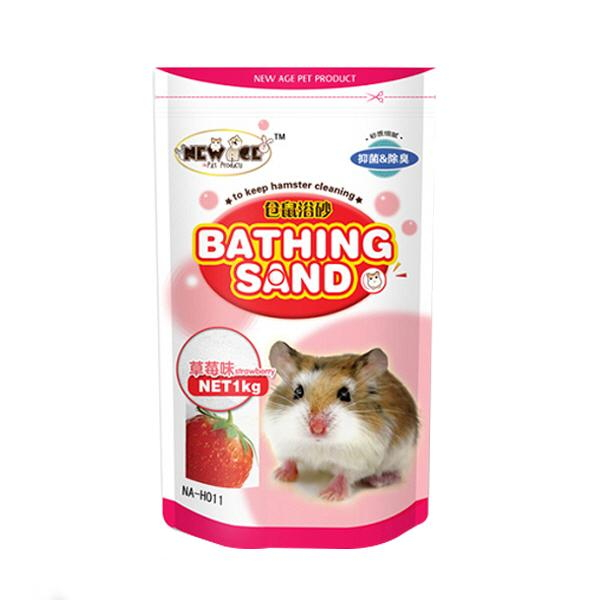 NEW AGE 햄스터 목욕모래 딸기향 1kg(NA-H011)