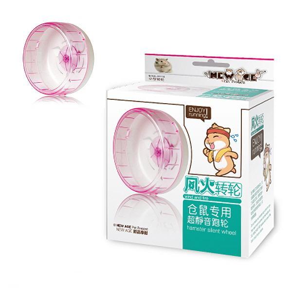 NEW AGE 햄스터 무소음 쳇바퀴 12cm 핑크(NA-H116)
