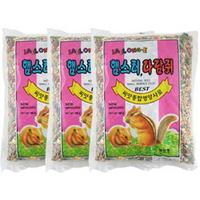 재롱이 씨앗 종합영양사료 800g 3개