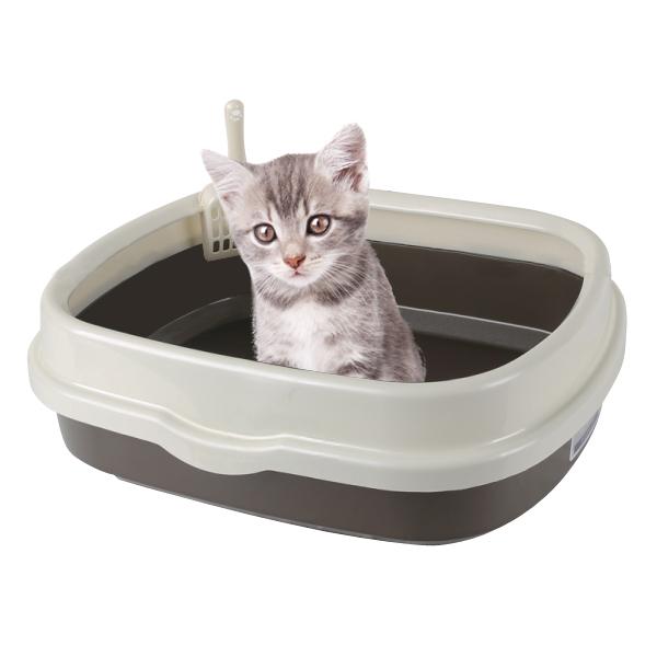 블루파우 가든 대형고양이 화장실 브라운