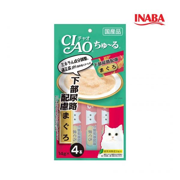 이나바 고양이 챠오츄루 하부요로관리 참치맛 14g x 4개입
