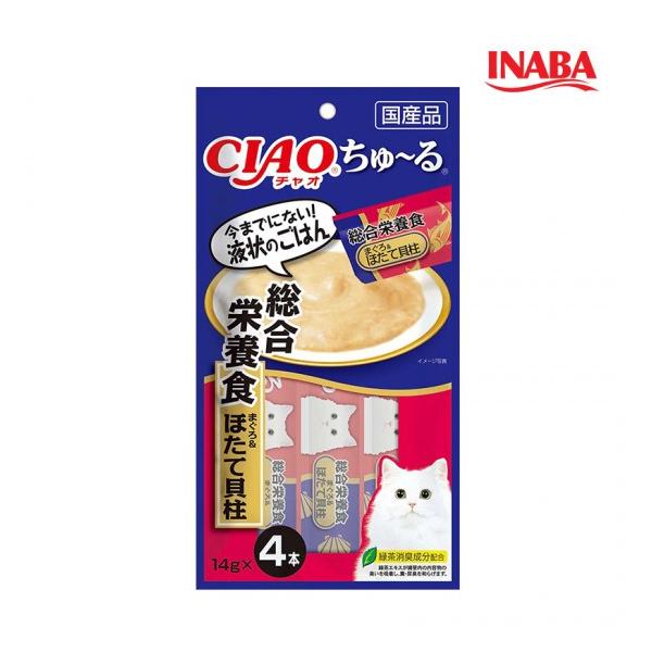 이나바 고양이 챠오츄루 종합영양식 참치 가리비관자 14g x 4개입