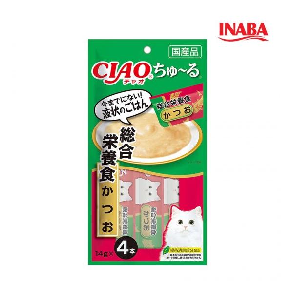 이나바 고양이 챠오츄루 종합영양식 가다랑어 14g x 4개입