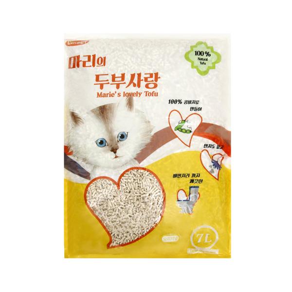 (특가)마리 두부사랑 고양이 모래 오리지날 7L