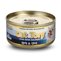 캣토리 고양이 캔 참치연어 80g