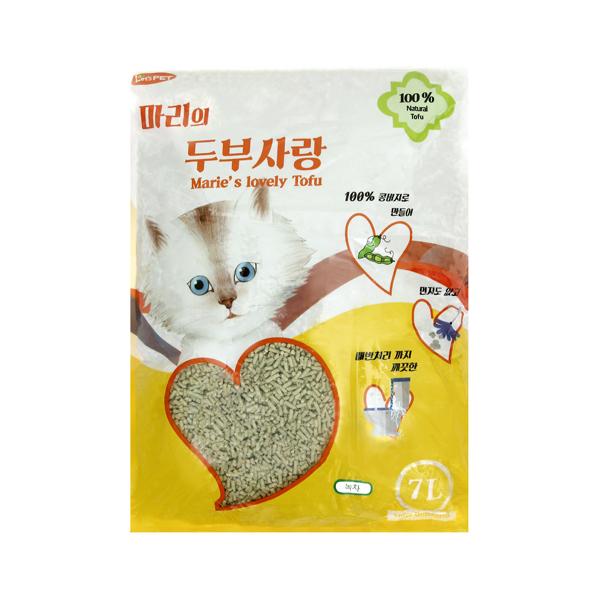 마리 두부사랑 고양이 모래 녹차 7L