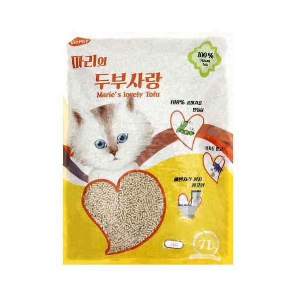 (특가)마리 두부사랑 고양이 모래 커피 7L
