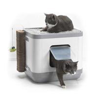 모더나 고양이 다기능 후드형 화장실 놀이터