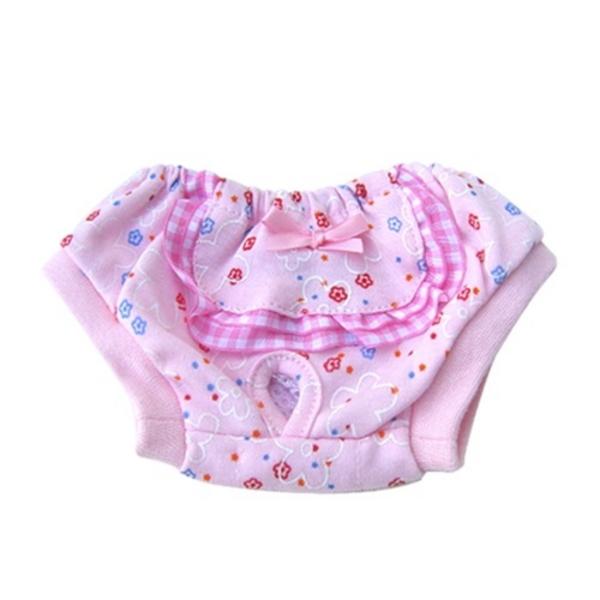 도그펜시아 꽃무늬 애견 생리팬티 핑크