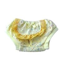 도그펜시아 꽃무늬 애견 생리팬티 옐로