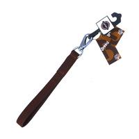 프리미엄 통가죽 리드줄 25cm 브라운 L