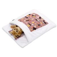 네코세카이 고양이 침대 배딩 하우스 레드