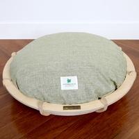 가또블랑코 반려동물 나무 원형 바스켓 침대