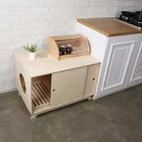 가또블랑코 고양이 나무 후드형 모던 큐브 화장실