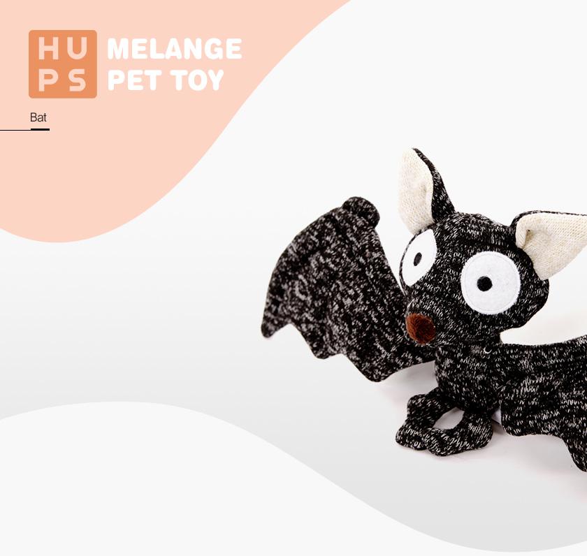 반려동물 장난감 헙스 멜란지 토이 박쥐 - 스토어봄, 11,160원, 장난감/훈련용품, 장난감