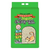 두부랑캣츠 고양이 모래 프리미엄 2.8kg 녹차 6개