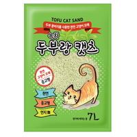 두부랑캣츠 고양이 모래 이코노미 2.8kg 녹차 6개