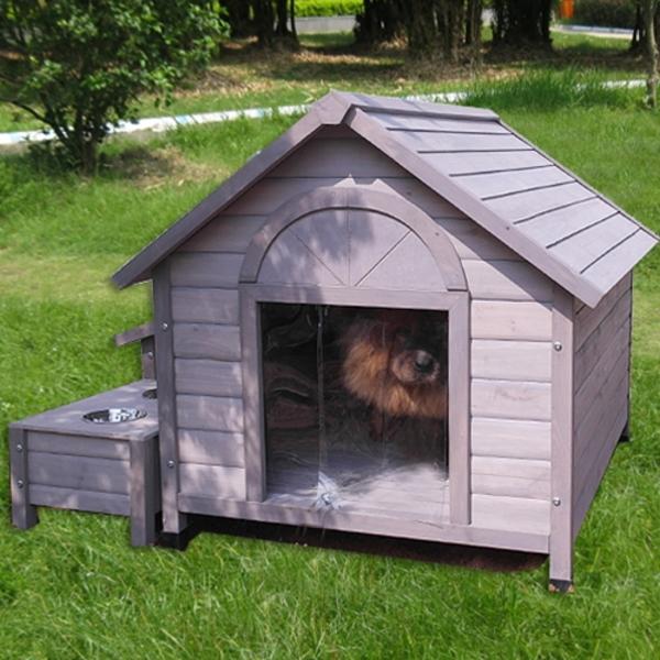 CM DGH8021 강아지 원목 편백나무 하우스