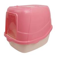 고양이 후드형 화장실 핑크 CM A954