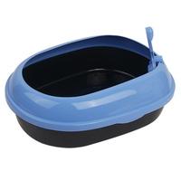 고양이 평판 화장실 블루 CM P541