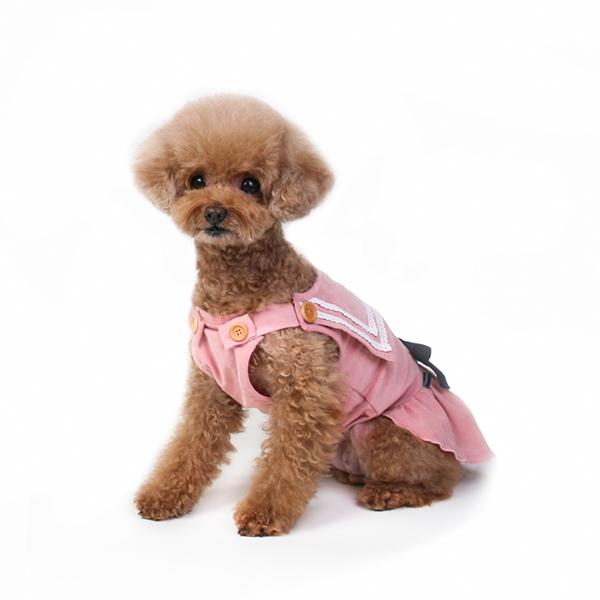 올앤낫띵 세일러 코듀로이 강아지원피스 (핑크)