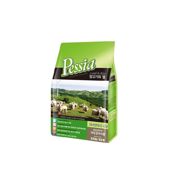 펫시아 강아지 사료 퍼피 양고기와 쌀 35g