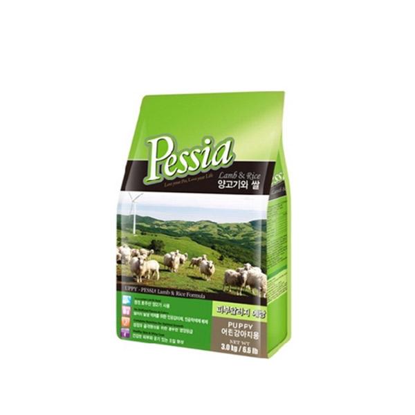 펫시아 강아지 사료 퍼피 양고기와 쌀 35g (3개묶음)