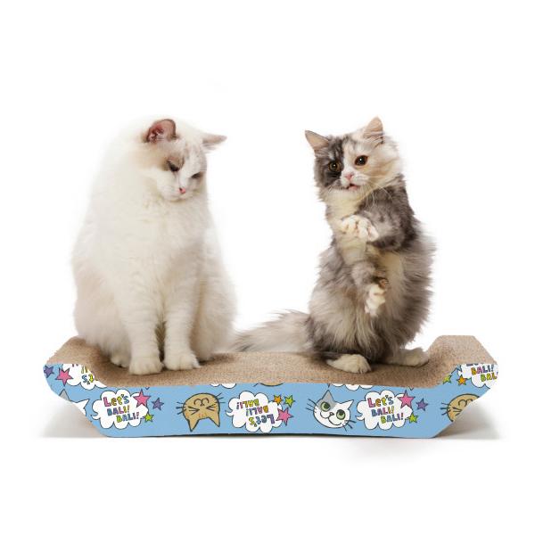 고양이 스크래쳐 바리바리베드 L 고양이무늬