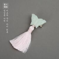 연옥 나비 노리개 (핑크)