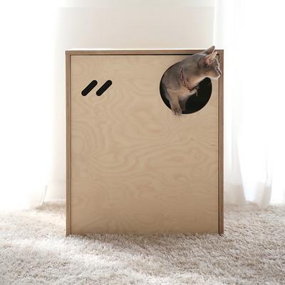 스탠다드 고양이 원목화장실