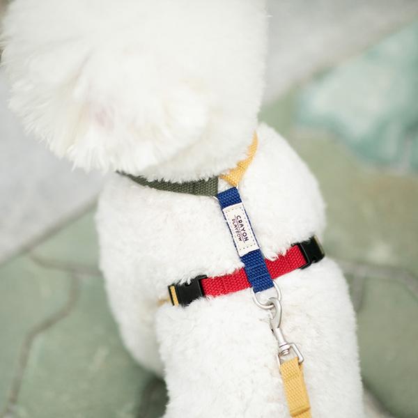 크레용 H형 강아지 하네스