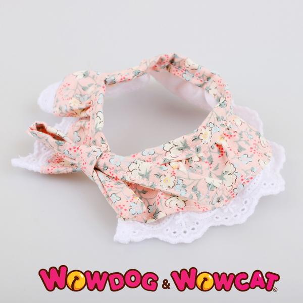 애견 레이스 스카프 - 벚꽃 핑크