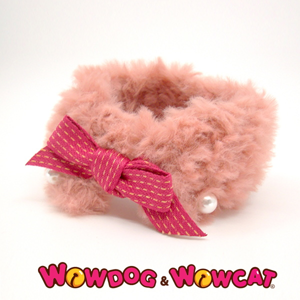 와우독와우캣 뜨개 목도리-보들 인디핑크