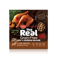 (유통기한21.02.03)더리얼 그레인프리 오븐베이크드 닭고기 퍼피 사료 1kg