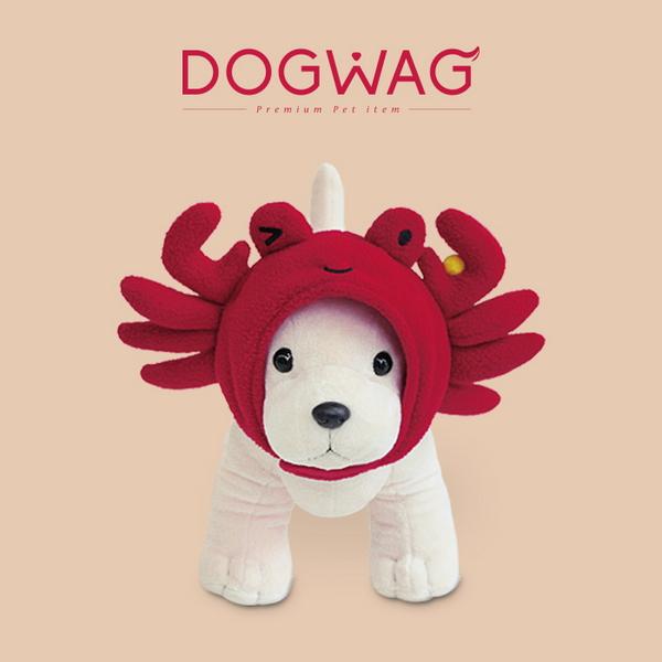 도그웨그 강아지 고양이 핵인싸 코스튬 꽃게 모자