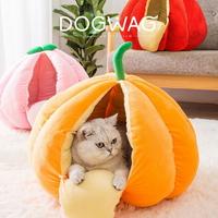 도그웨그 강아지 고양이 과일 숨숨집 호박 하우스