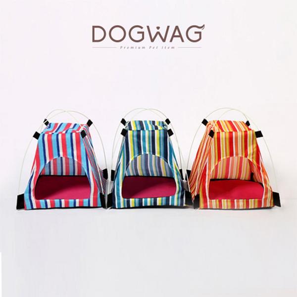 도그웨그 DOGWAG 줄무늬 휴대용 미니텐트