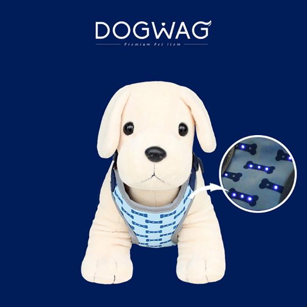 도그웨그 DOGWAG 강아지 LED 발광 하네스